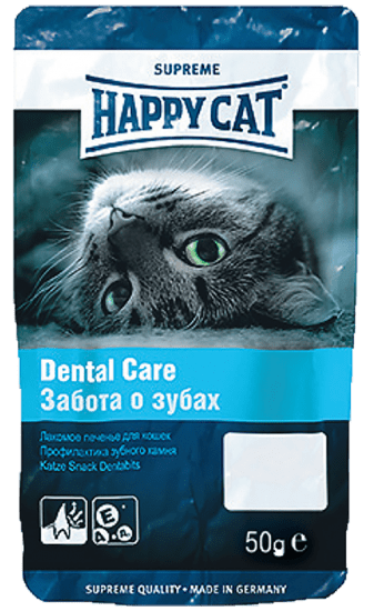 Happy Cat печенье для кошек Dental Care , 50гр.