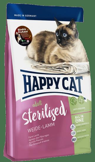 Happy Cat Sterilised сухой корм для стерилизованных кошек , с ягенком