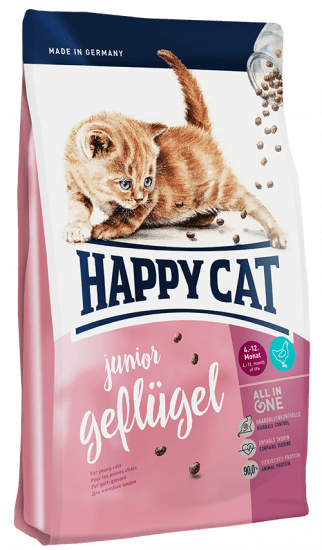 Happy Cat Kitten Junior сухой корм для котят с 4 до 12 месяцев  с птицей