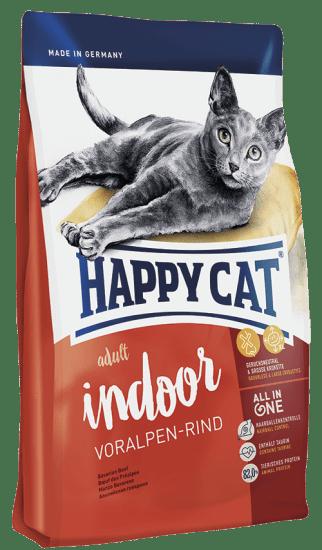Happy Cat Indoor сухой корм для домашних кошек , с альпийской говядиной