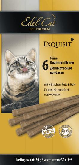 Edel Cat колбаски для кошек  с курицей,индейкой и дрожжами (3шт*5гр)