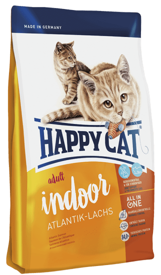 Happy Cat Indoor сухой корм для домашних кошек , с атлантическим лососем