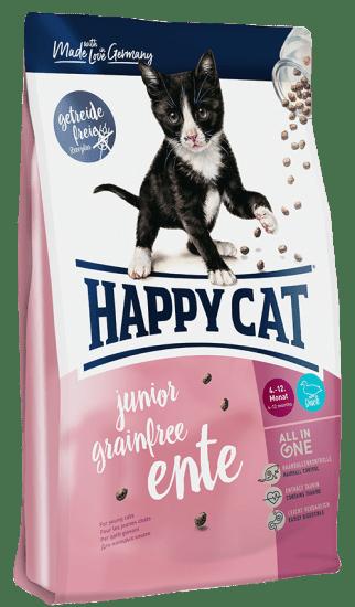 Happy Cat Kitten Junior Grainfree сухой беззерновой корм для котят, с чувствительным пищеварением , с уткой